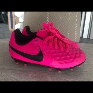 Little girl's Nike soccer cleats